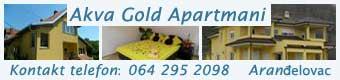 akva gold apartmani arandjelovac