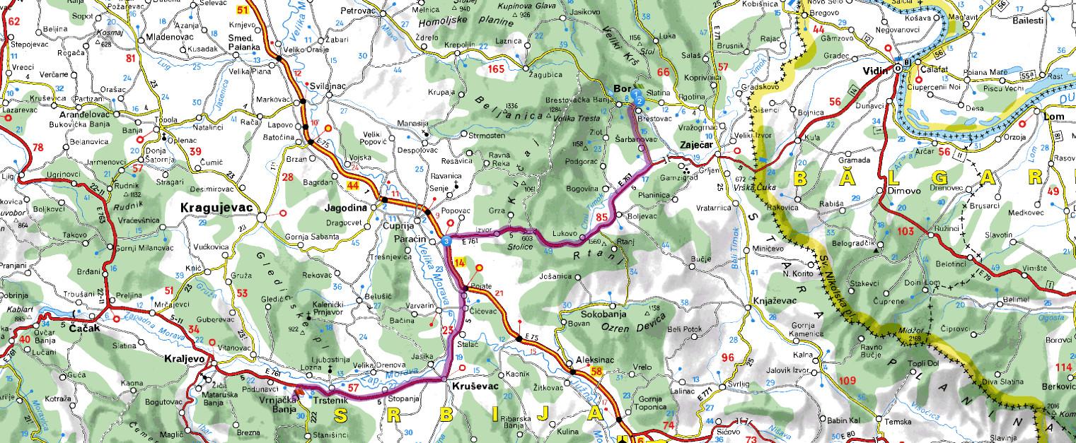 bor mapa srbije bor vrnjacka_banja put | mapa bor mapa srbije